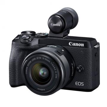 CANON EOS M6 MARK II + 15-45mm IS STM + EVF-DC2