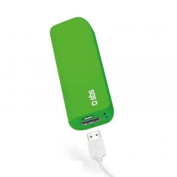 SBS POWER BANK 3000MAH 1A GREEN