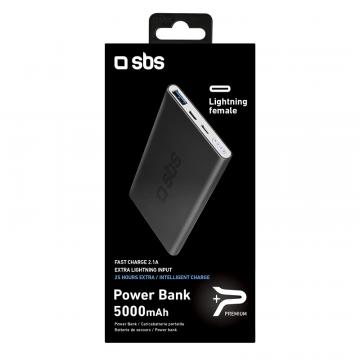SBS POWER BANK IN ALL.2.1A 5000MAH BLACK