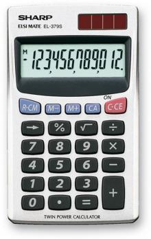 SHARP CALC EL-379SB